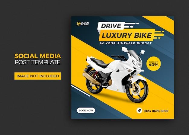 Motorrad social media post template design Premium PSD