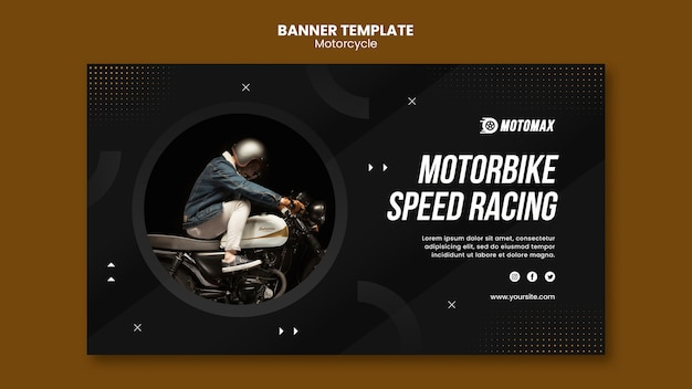 Motorrad speed racing banner vorlage Premium PSD