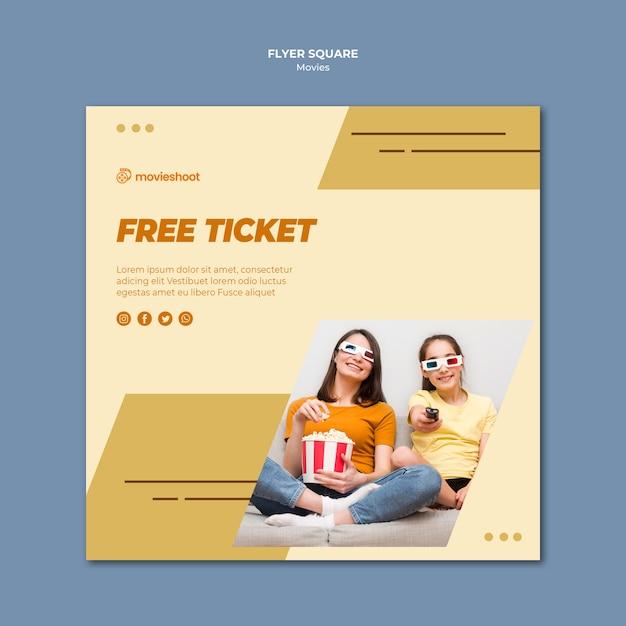 Movie time square flyer vorlage Kostenlosen PSD