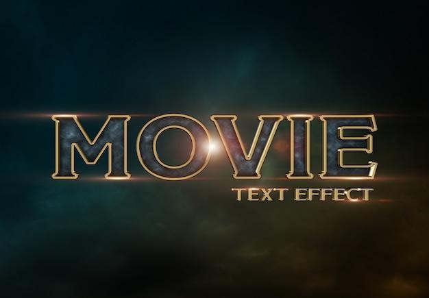 Movie trailer-texteffekt Premium PSD
