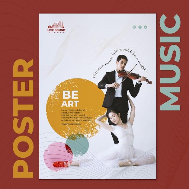 Musik-flyer-vorlage mit foto Kostenlosen PSD