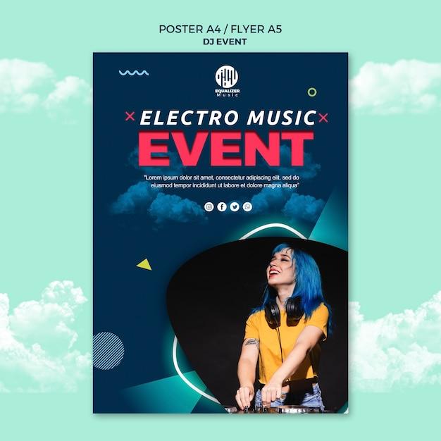 Musik party konzept poster flyer vorlage Kostenlosen PSD