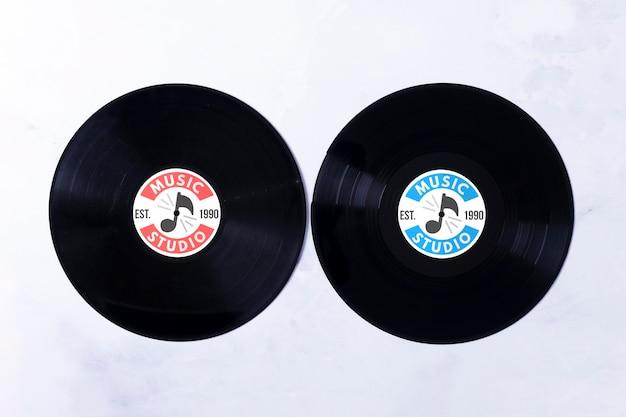 Musik vinyls konzept Kostenlosen PSD