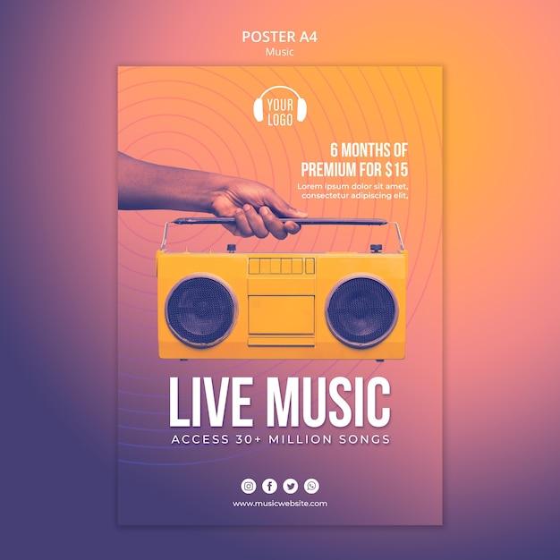 Musikkonzept poster vorlage Premium PSD