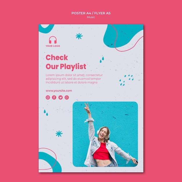 Musikplakatschablone mit foto Kostenlosen PSD