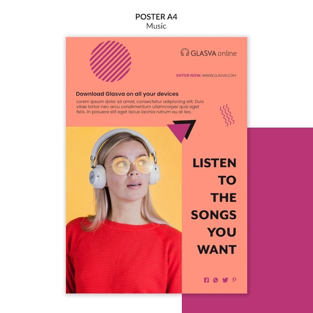 Musikplakatvorlage thema Kostenlosen PSD