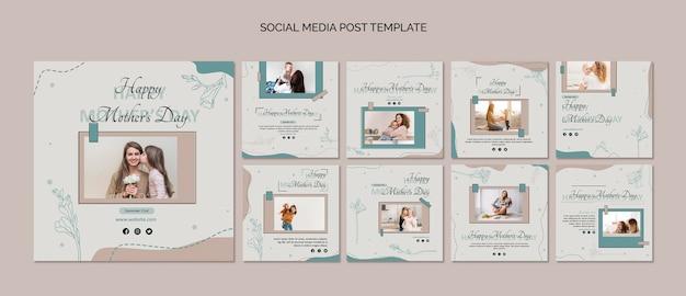 Muttertag social media post vorlage Premium PSD