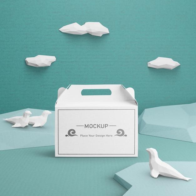 Nachhaltige papiertüte für den tag des ozeans Kostenlosen PSD