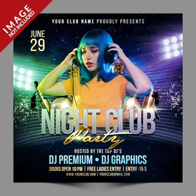 Nachtclub party social psd media promotion vorlage Premium PSD