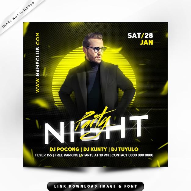 Nachtparty flyer premium Premium PSD