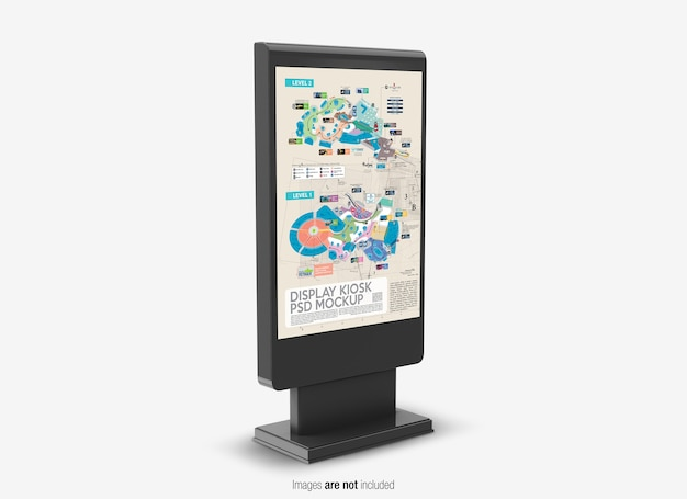 Nahaufnahme auf display kiosk mockup isolated Premium PSD