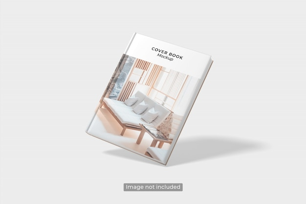 Nahaufnahme auf flying book cover mockup Premium PSD