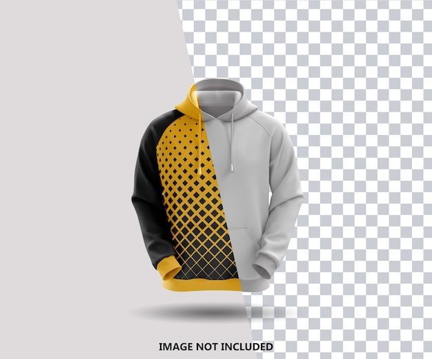 Nahaufnahme auf hoodie mockup isolated Premium PSD