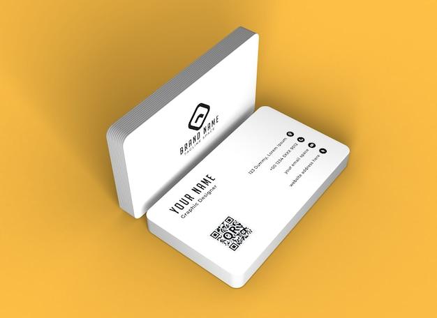 Nahaufnahme auf visitenkartenmodell isoliert Premium PSD