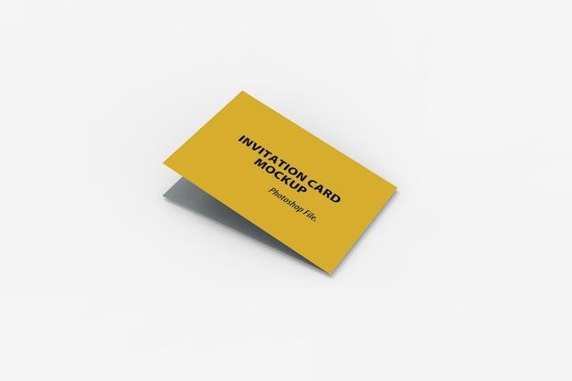 Nahaufnahme des bifold-einladungskartenmodells Premium PSD