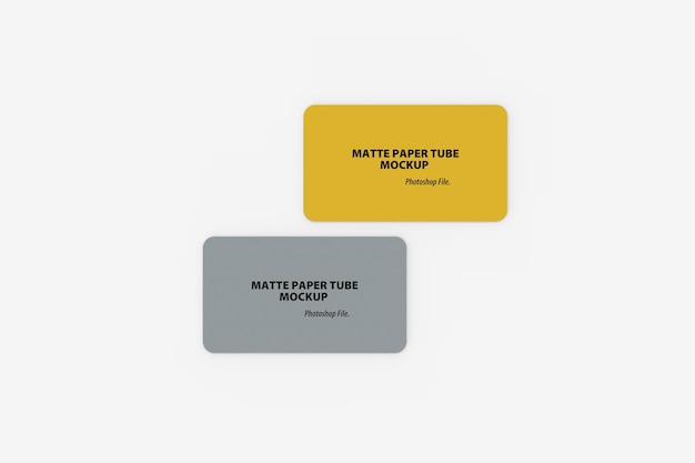 Nahaufnahme des doppelten visitenkartenmodells runde ecken Premium PSD