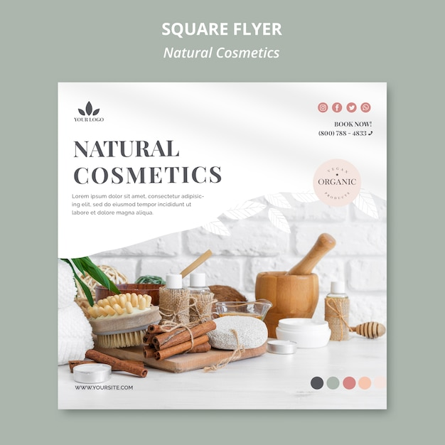 Naturkosmetik flyer Kostenlosen PSD