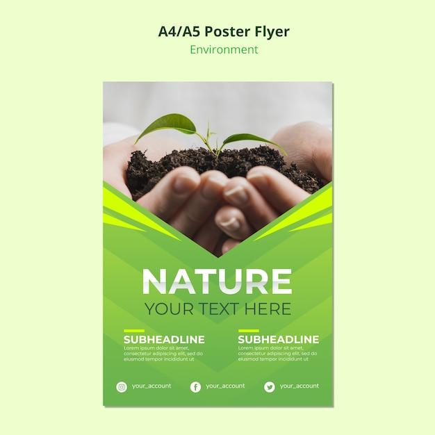Naturumgebung für flyer vorlage Kostenlosen PSD