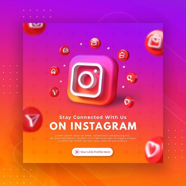 Nehmen sie kontakt mit uns auf der geschäftsseitenwerbung für die instagram-post-vorlage auf Premium PSD
