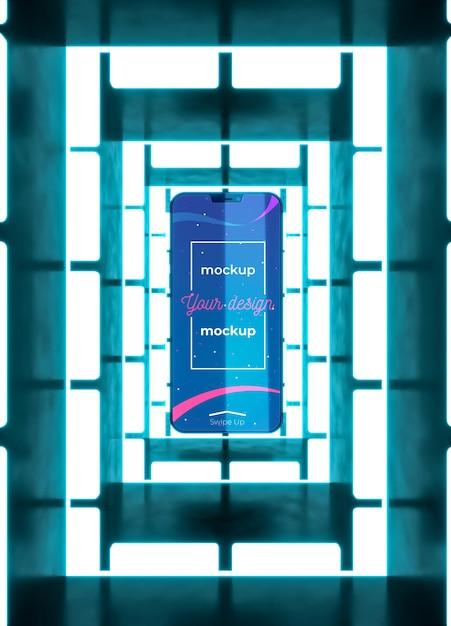 Neon-gerätekonzept-modell Kostenlosen PSD