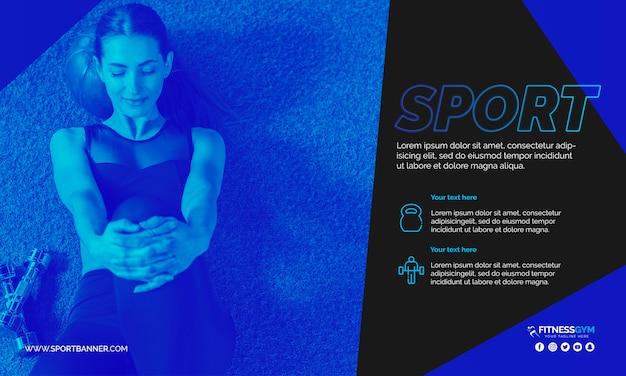 Netzfahnenschablone mit sportkonzept Kostenlosen PSD