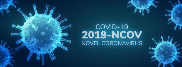 Neuartiges coronavirus (2019-ncov), virus covid 19-ncp Premium PSD