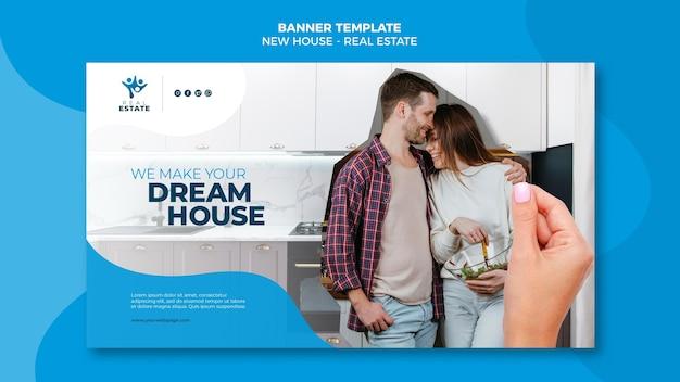 Neues haus immobilien banner Kostenlosen PSD
