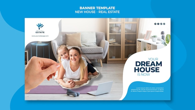 Neues haus immobilien banner Premium PSD