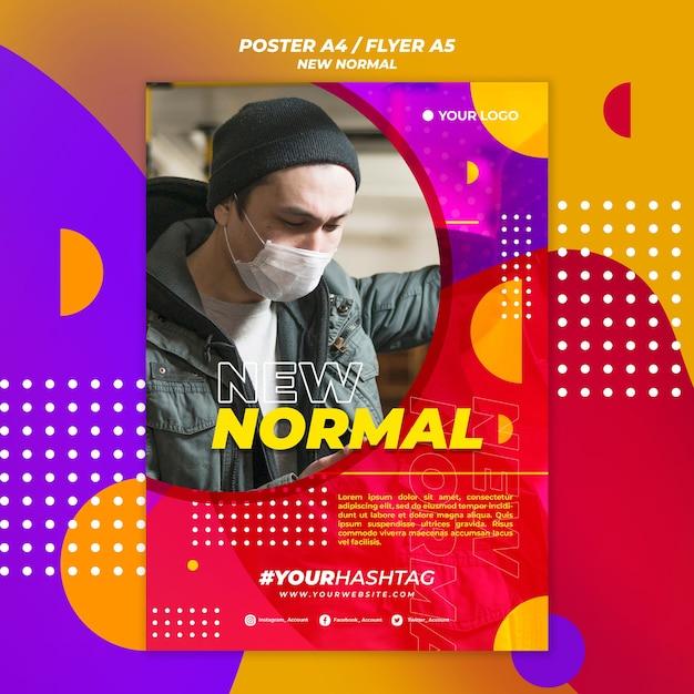 Neues normales plakatdesign Kostenlosen PSD