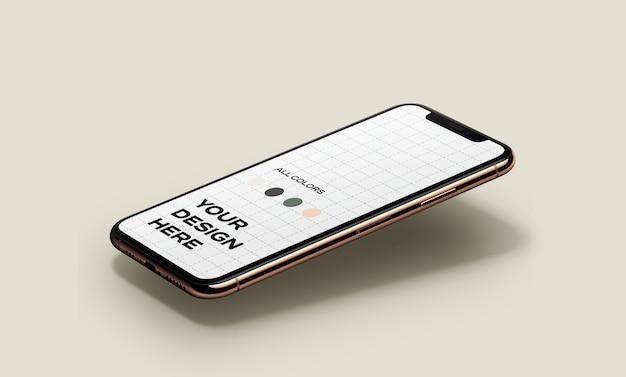 Neues smartphone mockup schwebt Kostenlosen PSD