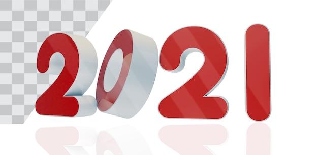 Neujahr drei d text Kostenlosen PSD
