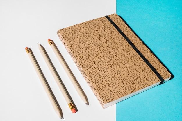 Notebook-modell für bildungskonzept Kostenlosen PSD