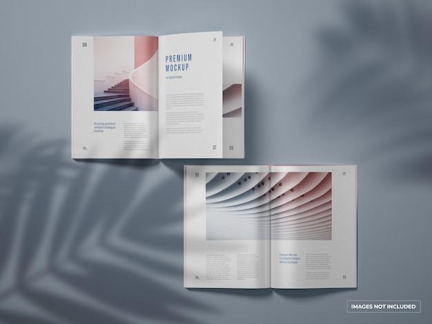Öffnen sie das vertikale katalog- und magazinmodell Premium PSD
