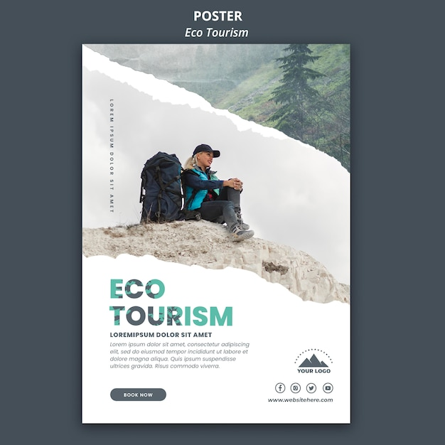 Öko-tourismus flyer vorlage Kostenlosen PSD