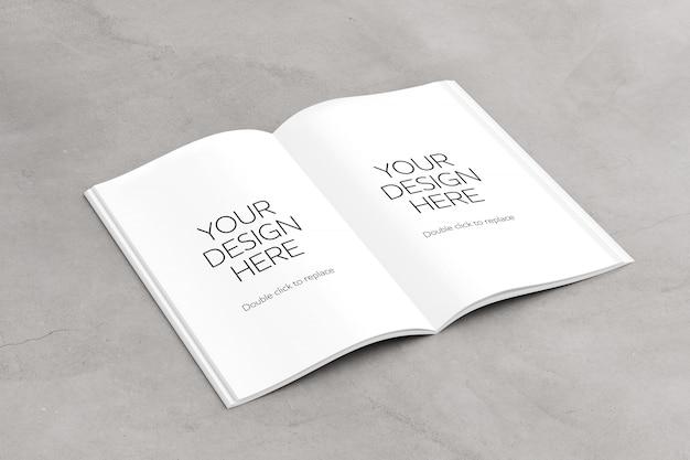 Offene magazinseiten werden nachgebildet Premium PSD