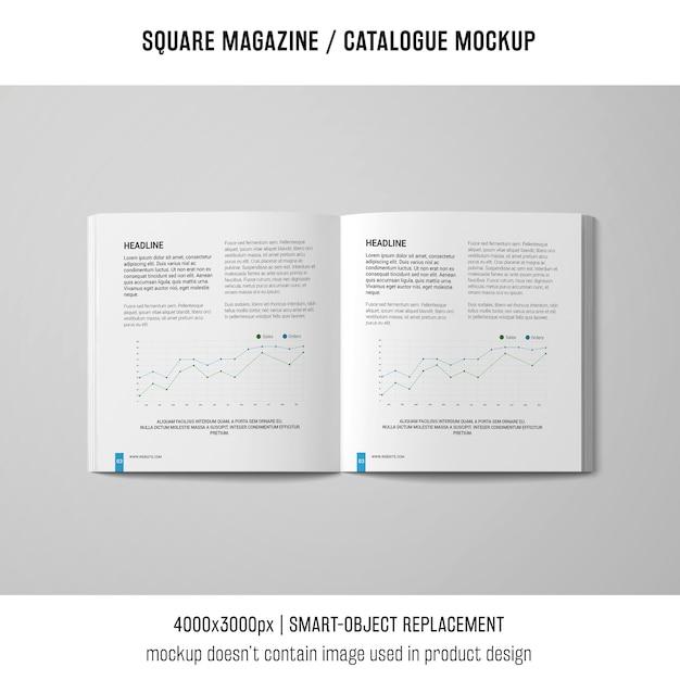 Offenes quadratisches magazin oder katalogmodell Kostenlosen PSD