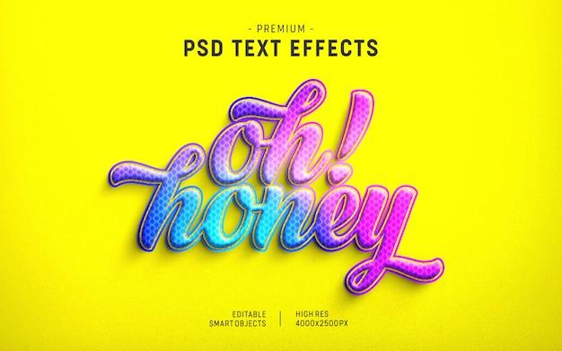 Oh honey valentine text effect-vorlage Premium PSD