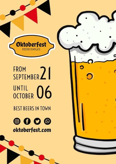 Oktoberfest flyer vorlage Kostenlosen PSD