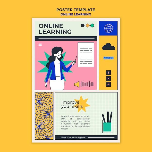Online-lernanzeige vorlage poster Kostenlosen PSD
