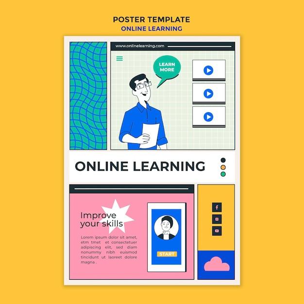 Online-lernvorlage poster Kostenlosen PSD