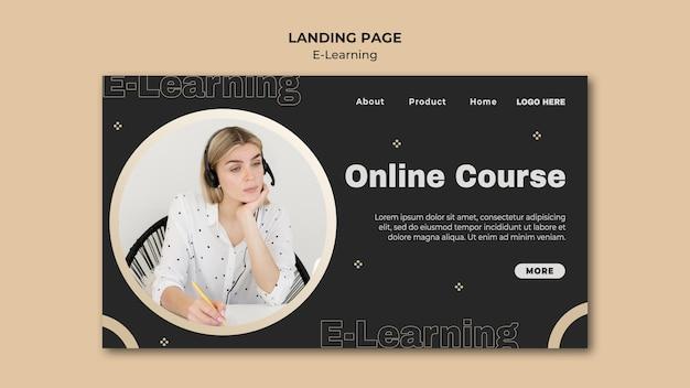 Online-lernzielseitenvorlage Kostenlosen PSD
