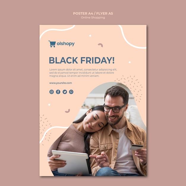 Online-shopping-poster-design Kostenlosen PSD