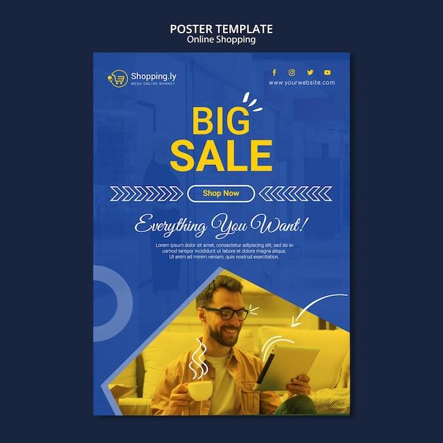 Online-shopping-poster-vorlage Kostenlosen PSD