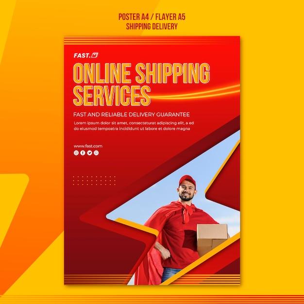 Online-shopping-services poster vorlage Kostenlosen PSD