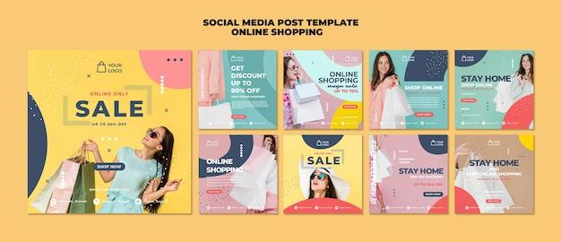 Online-shopping social media post vorlage Kostenlosen PSD