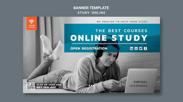 Online-studienbanner-vorlage Kostenlosen PSD