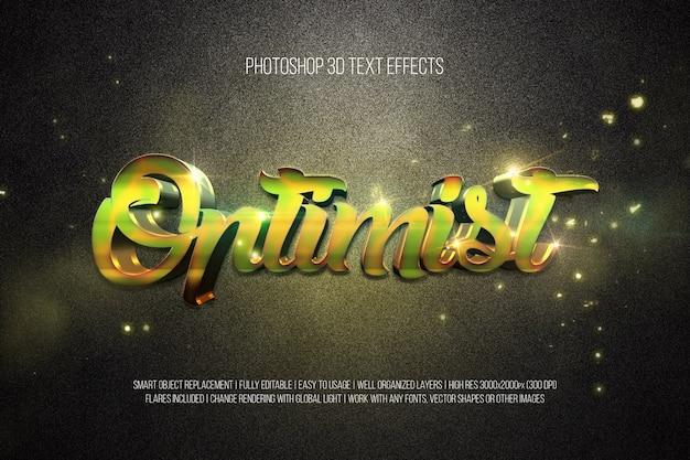 Optimist für photoshop 3d-texteffekte Premium PSD