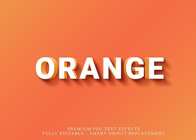 Orange textart-effekt psd des spaßes 3d Premium PSD