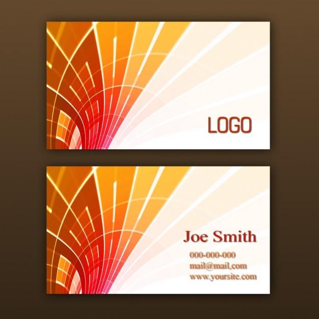 Orange Visitenkarten Vorlage Download Der Kostenlosen Psd