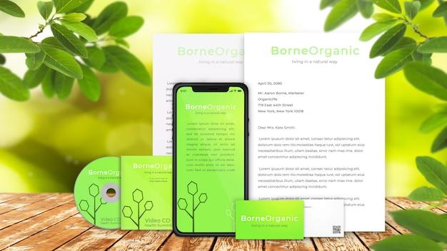 Organisches Unternehmensbranding Von Iphone X Von